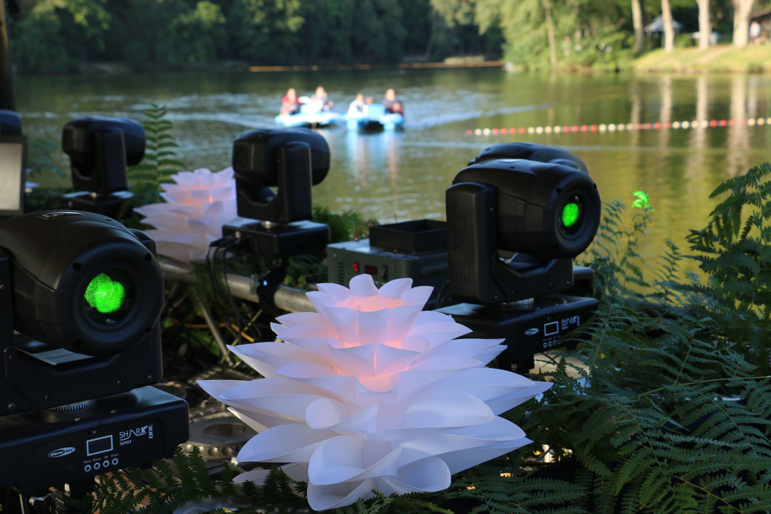 Apéro du Lac à Spa Jalhay. Création de décors végétals.